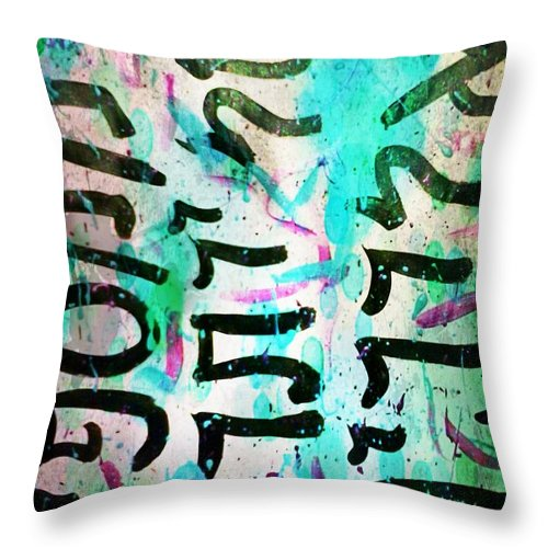 Tribal Throw Pillow featuring the mixed media Overkill by Alexander Ladd