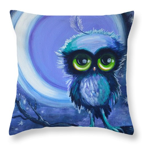 Owl Throw Pillow featuring the painting Owl Be Brave by Agata Lindquist