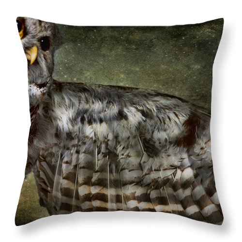Evie Throw Pillow featuring the photograph Owl by Evie Carrier