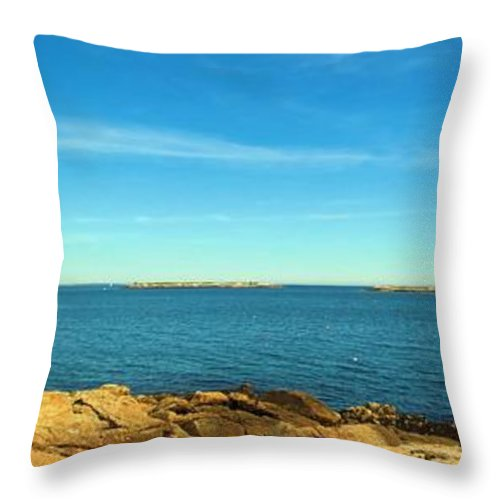 Owls Head Throw Pillow featuring the photograph Owls Head View by Robert McCulloch