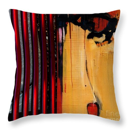 Abstract Photography Throw Pillow featuring the painting p HOTography 132 by Marlene Burns