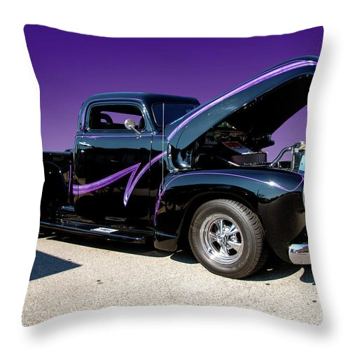 Purple Throw Pillow featuring the photograph P P - Purple Pickup by Paul Cannon
