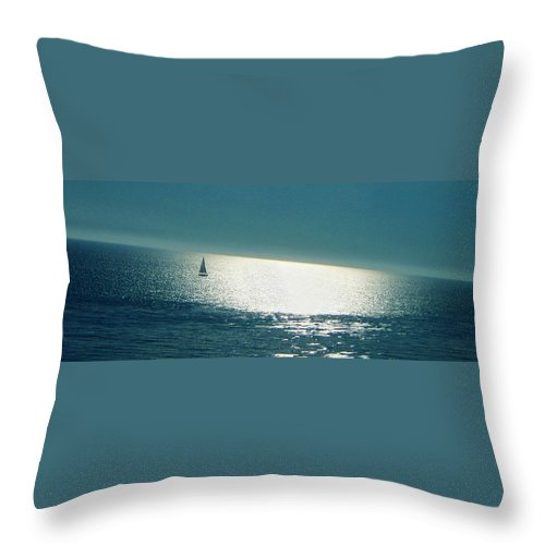 Seascape Throw Pillow featuring the photograph Pacific by Ben and Raisa Gertsberg