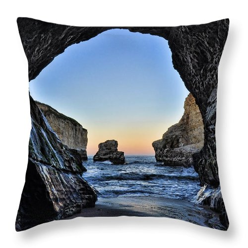 Http://www.facebook.com/spectralight Throw Pillow featuring the photograph Pacific Coast - 2 by Mark Madere