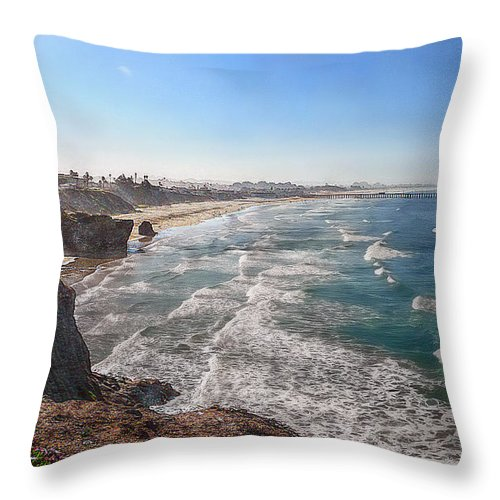 Ocean Throw Pillow featuring the photograph Pacific Coast by Hanny Heim