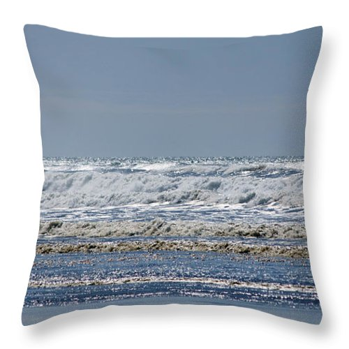Ocean Throw Pillow featuring the photograph Pacific Coast by Jeanette C Landstrom