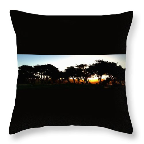 Monterey Throw Pillow featuring the photograph Pacific Grove Golf Links 19902 by Jerry Sodorff