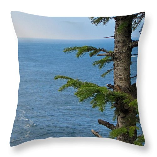 Cape Flattery Throw Pillow featuring the photograph Pacific Ocean by Tikvah's Hope