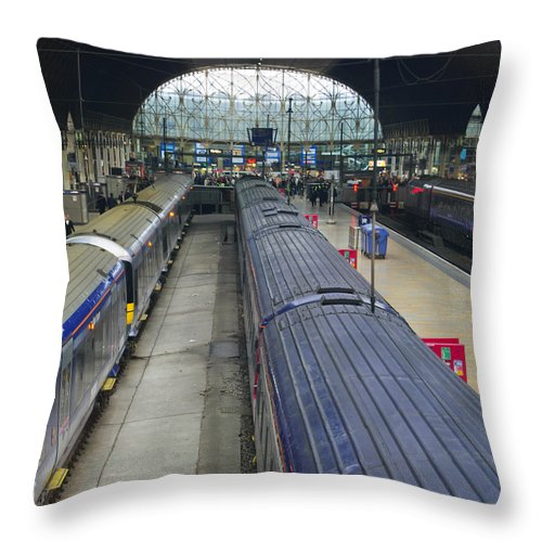 Britain Throw Pillow featuring the photograph Paddington Station by Christi Kraft