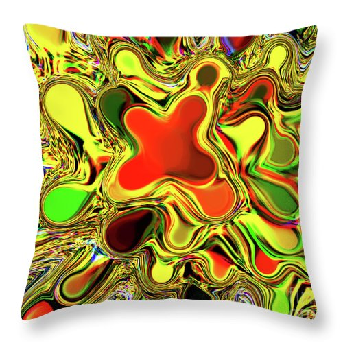 Orange Throw Pillow featuring the photograph Paint Ball Color Explosion by Andee Design