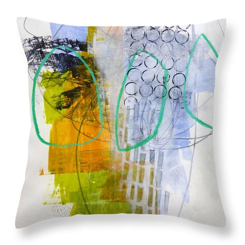 Keywords: Abstract Throw Pillow featuring the painting Paint Improv 7 by Jane Davies