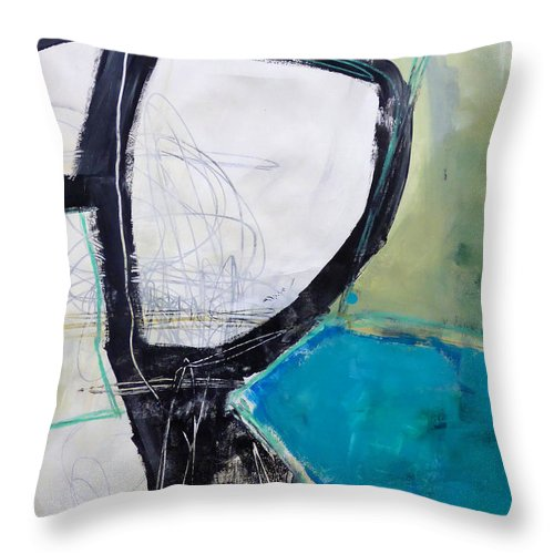 Keywords: Abstract Throw Pillow featuring the painting Paint Improv 8 by Jane Davies