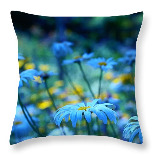 Blue Throw Pillow featuring the photograph Paint Me Blue by Aimelle