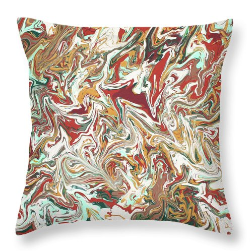Acrylic Throw Pillow featuring the painting Paint Number Four by Ric Bascobert