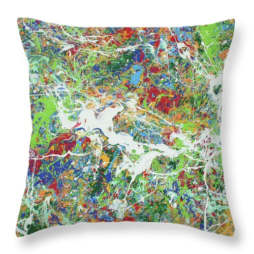 Acrylic Throw Pillow featuring the painting Paint Number Sixteen by Ric Bascobert