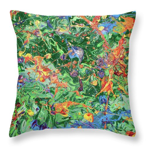 Acrylic Throw Pillow featuring the painting Paint Number Twenty Three by Ric Bascobert