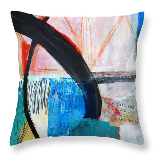 Keywords: Abstract Throw Pillow featuring the painting Paint Solo 1 by Jane Davies