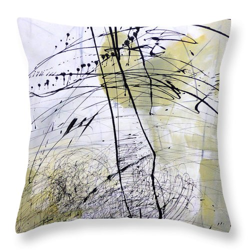 Throw Pillow featuring the painting Paint Solo 5 by Jane Davies