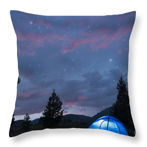 Beauty In Nature Throw Pillow featuring the photograph Paint The Sky With Stars by Juli Scalzi