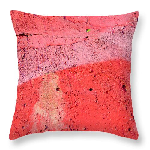 Abstract Throw Pillow featuring the photograph Paint Wall Texture by Alain De Maximy