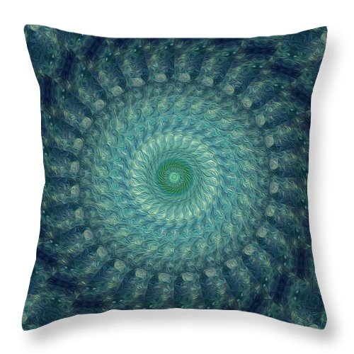 Kaleidoscope Throw Pillow featuring the digital art Painted Kaleidoscope 3 by Rhonda Barrett