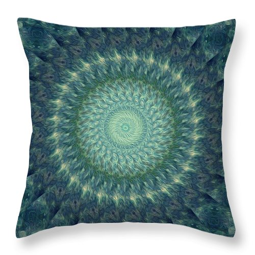 Kaleidoscope Throw Pillow featuring the digital art Painted Kaleidoscope 6 by Rhonda Barrett
