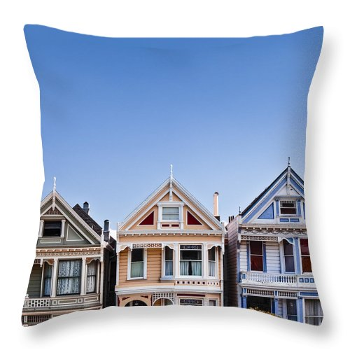 Painted Ladies Throw Pillow featuring the photograph Painted Ladies by Dave Bowman