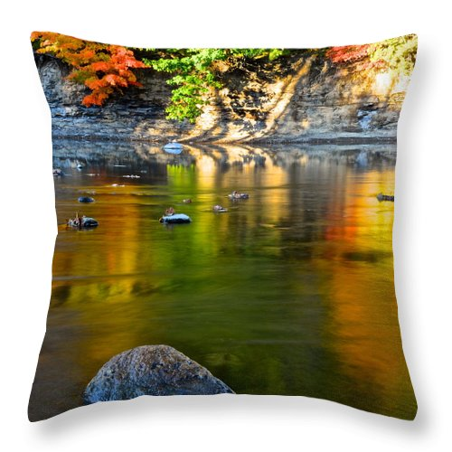 Painted Throw Pillow featuring the photograph Painted River by Frozen in Time Fine Art Photography