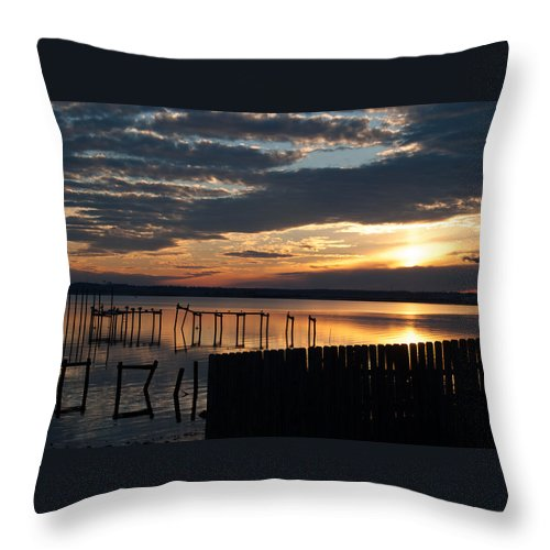 Florida Throw Pillow featuring the photograph Painted Skies by Jon Cody