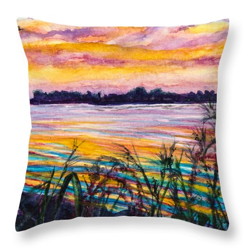 Art Throw Pillow featuring the painting Painted Water by Patricia Allingham Carlson