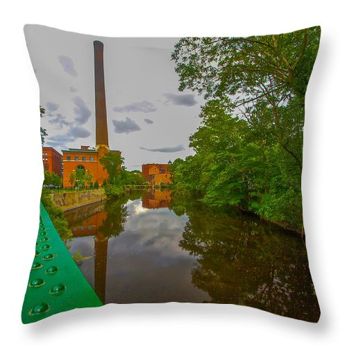 Photograph Throw Pillow featuring the photograph Painting The River by Brian MacLean