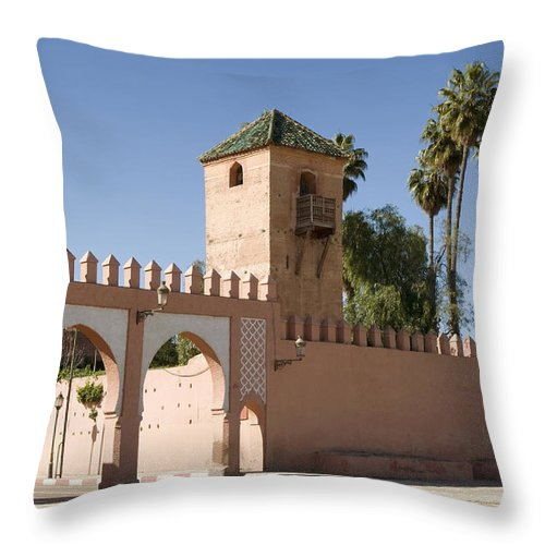 Marrakech Throw Pillow featuring the photograph Palace Entrance by Mick House