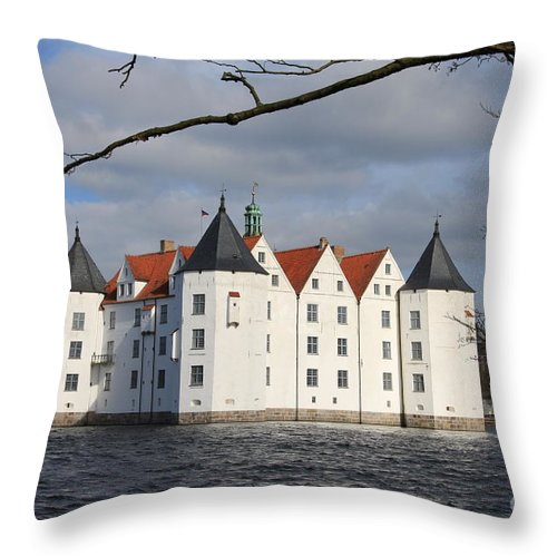Palace Throw Pillow featuring the photograph Palace Gluecksburg - Germany by Christiane Schulze Art And Photography