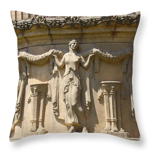 Relief Throw Pillow featuring the photograph Palace Of Fine Arts Relief San Francisco by Christiane Schulze Art And Photography