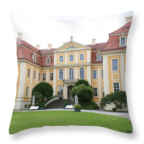 Palace Throw Pillow featuring the photograph Palace Rammenau - Germany by Christiane Schulze Art And Photography