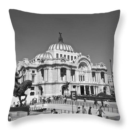 Palace Throw Pillow featuring the photograph Palacio De Bellas Artes by Galexa Ch