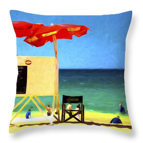 Palm Beach Throw Pillow featuring the photograph Palm Beach Sydney by Sheila Smart Fine Art Photography