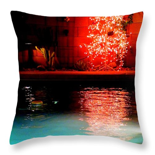 Christmas Throw Pillow featuring the photograph Palm Springs Christmas by Randall Weidner