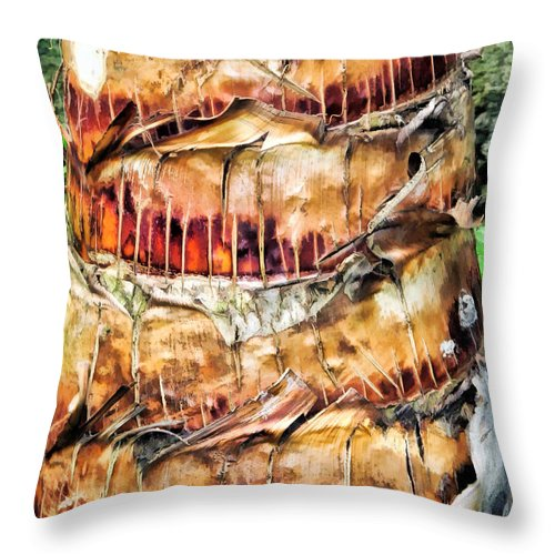 Hawaii Throw Pillow featuring the photograph Palm Tree 14 by Dawn Eshelman