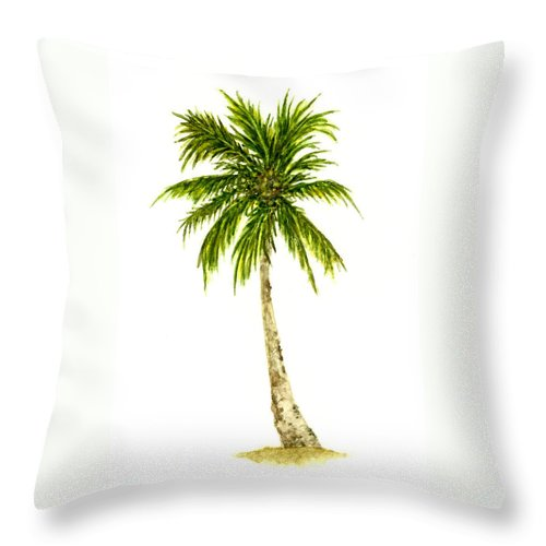 Tree Throw Pillow featuring the painting Palm Tree Number 4 by Michael Vigliotti