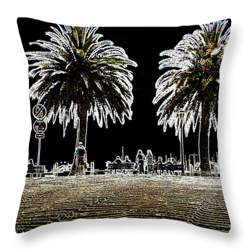 Photography In Ireland Throw Pillow featuring the photograph Black Out by Dave Byrne