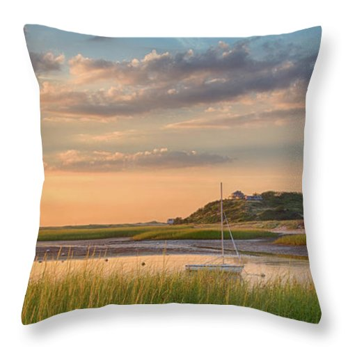 Scenics Throw Pillow featuring the photograph Pamet Harbor In Afternoon by Betty Wiley
