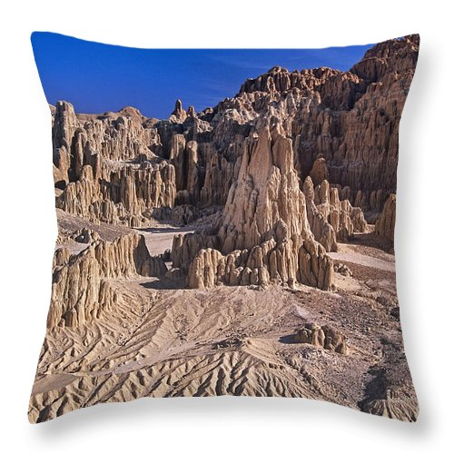 Nevada Landscape Throw Pillow featuring the photograph Panaca Formations In Cathedral Gorge State Park Nevada by Dave Welling