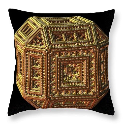 Fractal Throw Pillow featuring the digital art Pandora's Box by Lyle Hatch