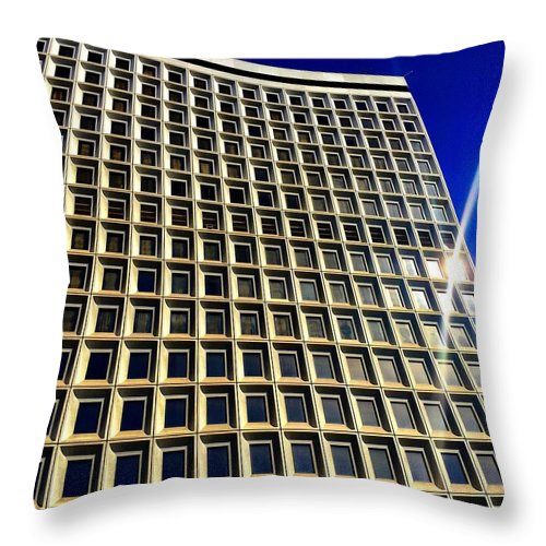 Windows Throw Pillow featuring the photograph Window Panes by Artemisa