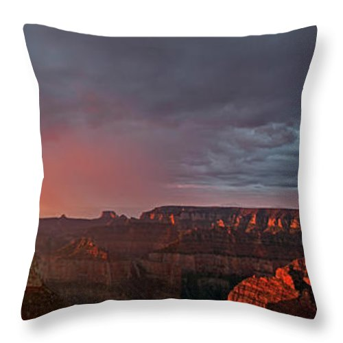 North America Throw Pillow featuring the photograph Panorama North Rim Grand Canyon National Park Arizona by Dave Welling