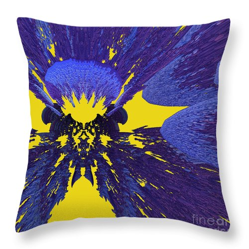 Throw Pillow featuring the digital art Pansy By Jammer by First Star Art