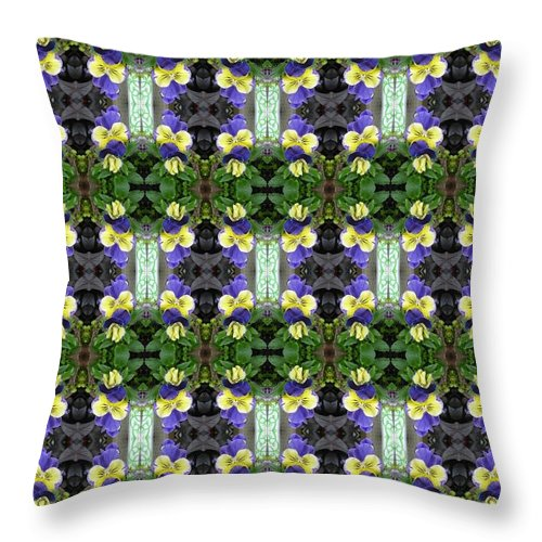 Pansy Throw Pillow featuring the photograph Pansy Floral Pattern by Nicki Bennett