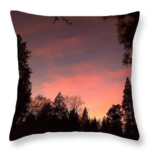 Sunset Throw Pillow featuring the photograph Paradise At Dusk by Michele Myers