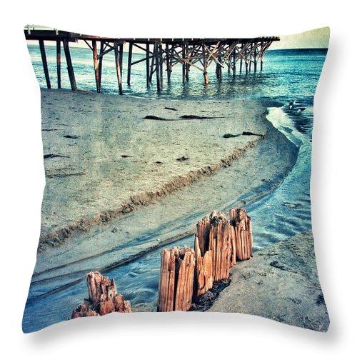 Pier Throw Pillow featuring the photograph Paradise Cove Pier by Jill Battaglia